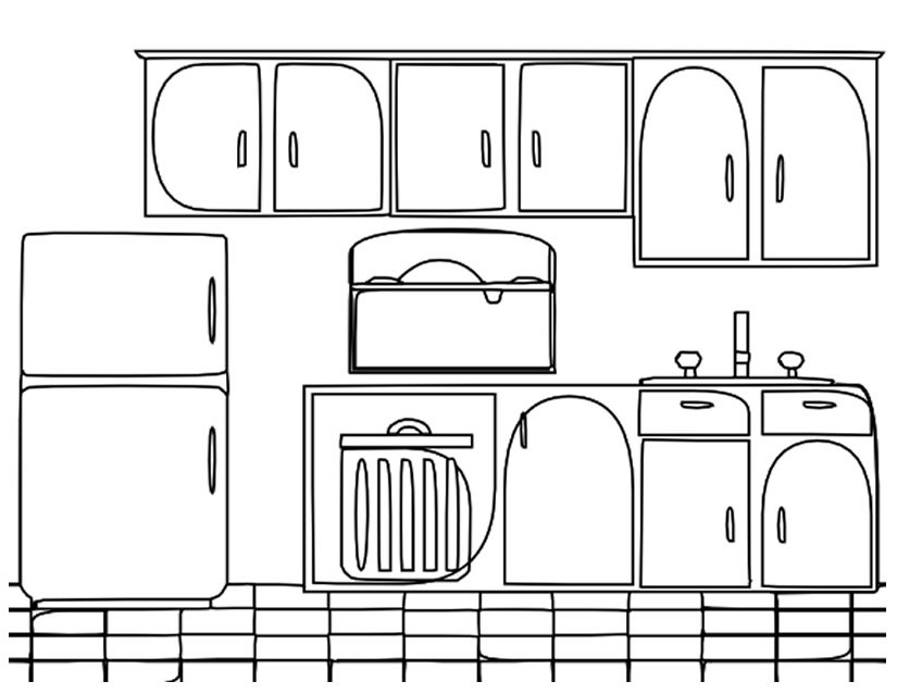 79 dessins de coloriage cuisine imprimer sur page 5. Black Bedroom Furniture Sets. Home Design Ideas