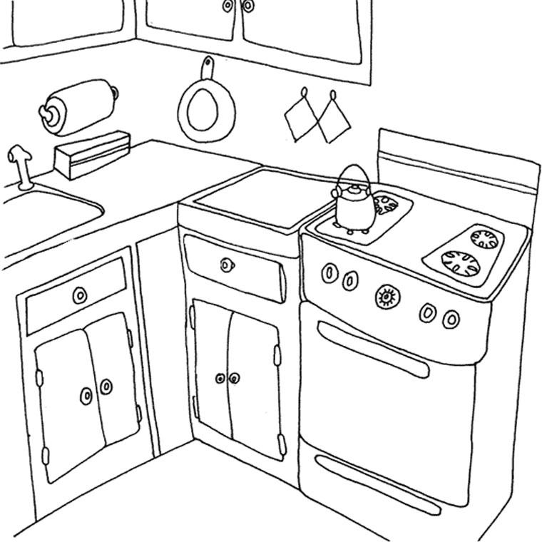 79 dessins de coloriage cuisine imprimer sur page 6. Black Bedroom Furniture Sets. Home Design Ideas