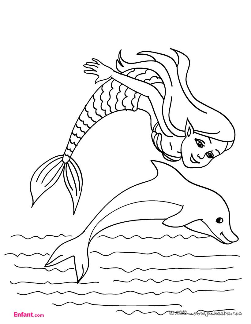 Jeux de coloriage dauphin a colorier