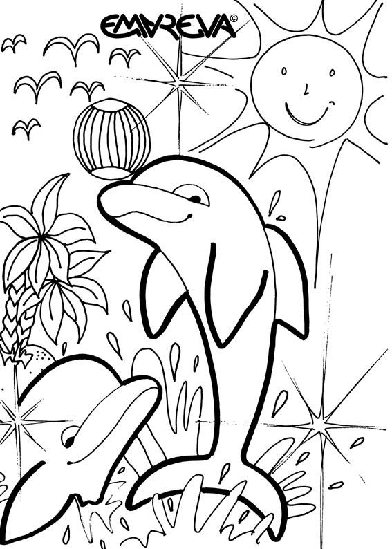 Dessin de dauphin gratuit a imprimer et colorier