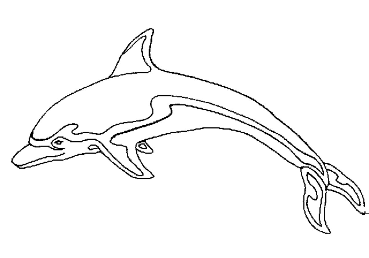 Coloriage de dauphin