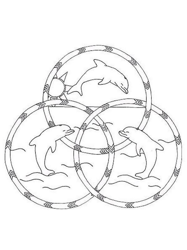 Coloriage de dauphin imprimer et colorier