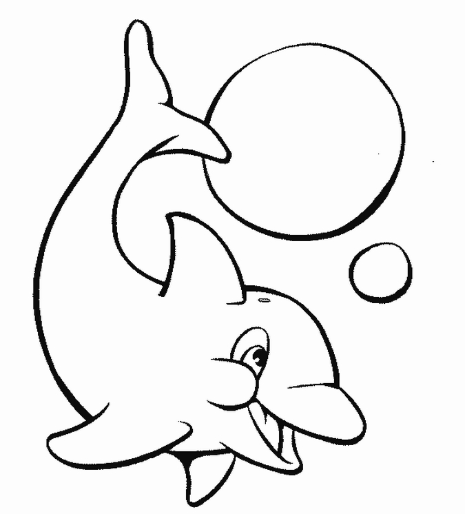 Jeux de coloriage dauphin à colorier et imprimer