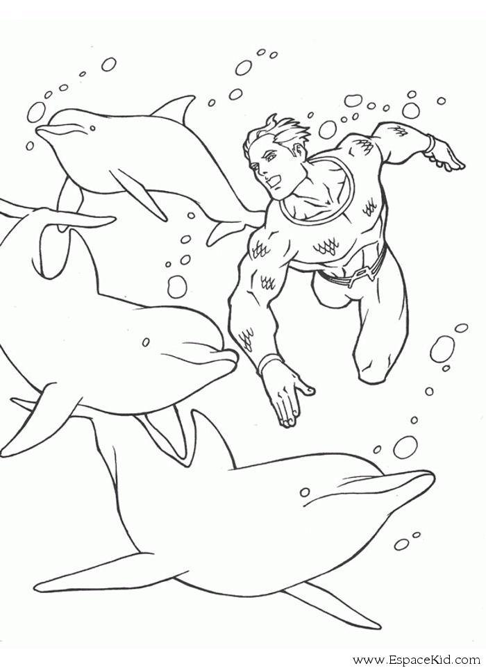 Dessin gratuit de dauphin à imprimer