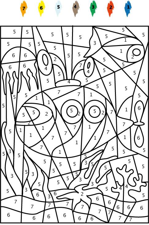 39 dessins de coloriage dessin à numéro à imprimer sur laguerche