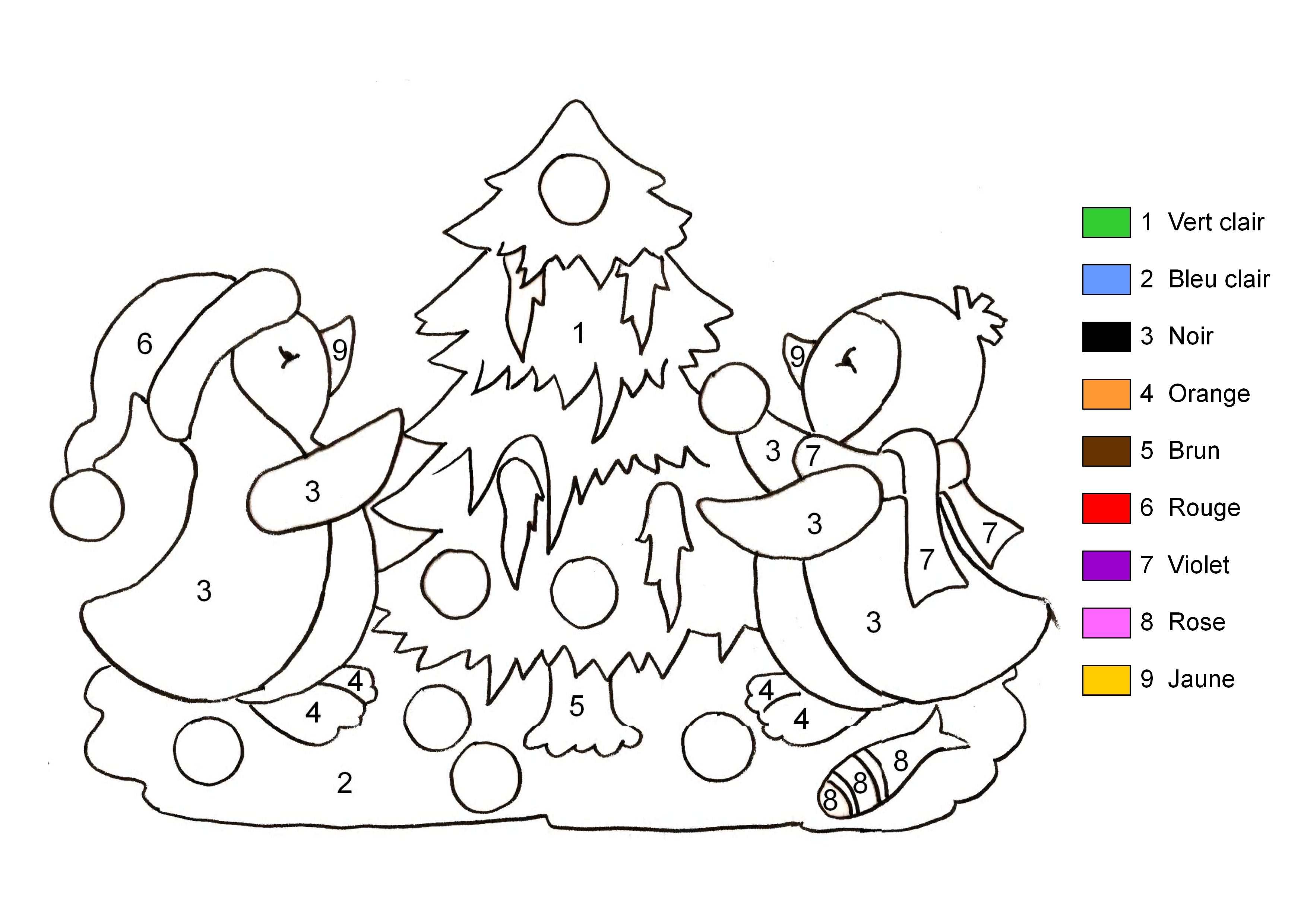 Bevorzugt 39 dessins de coloriage dessin à numéro à imprimer sur LaGuerche  ED77