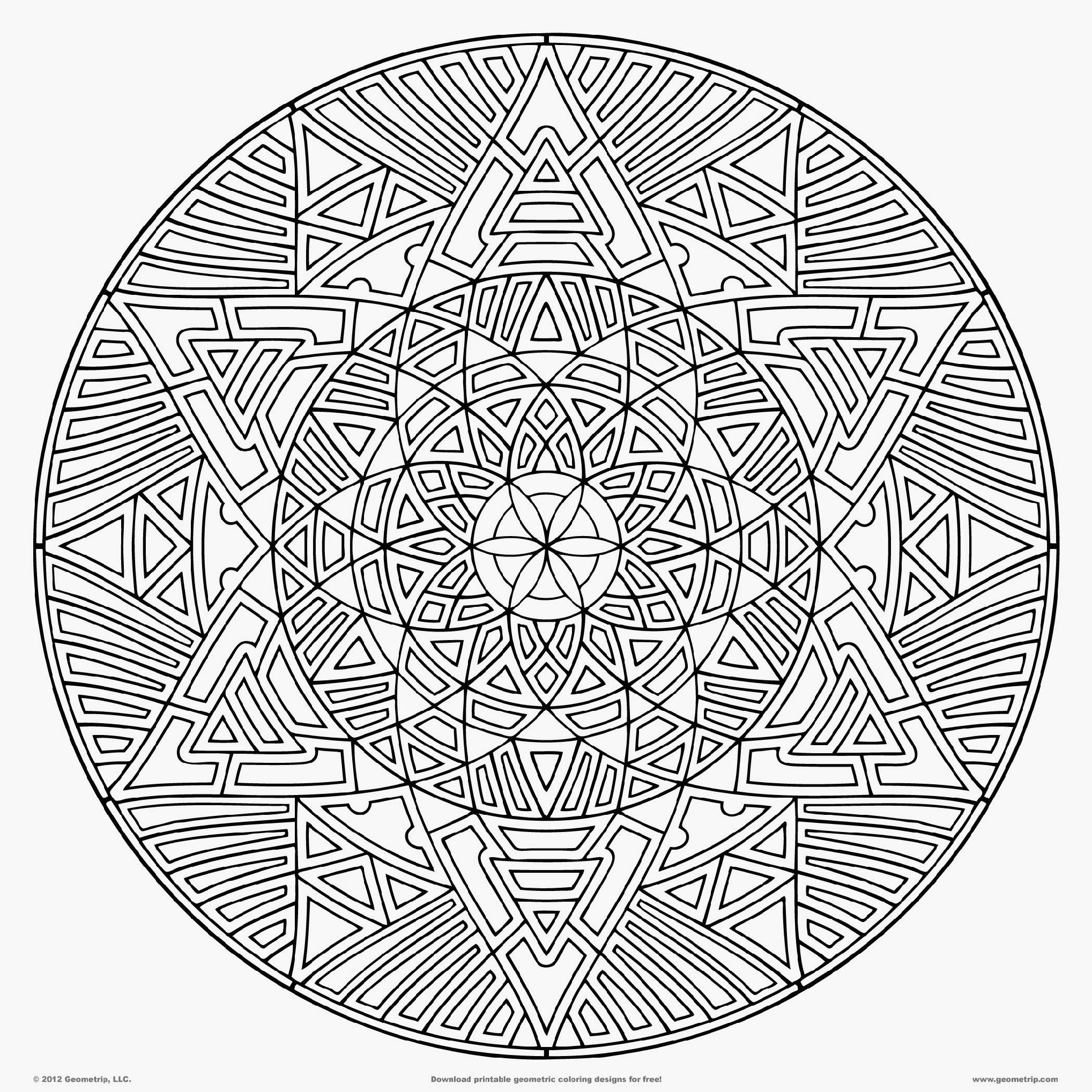 Abstract Circle Coloring Pages : Dessins de coloriage difficile à imprimer sur laguerche