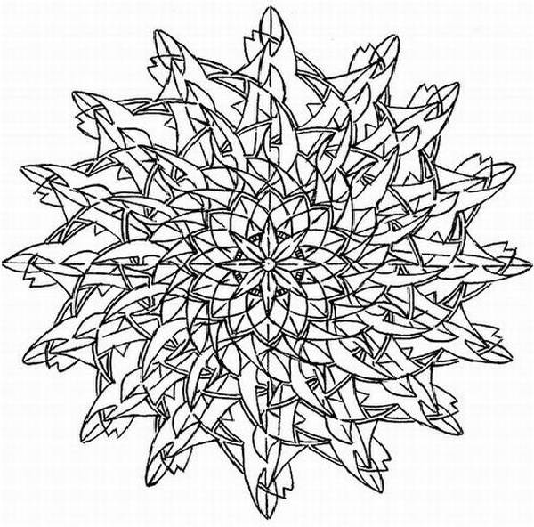 Challenging Flower Coloring Pages - Bltidm