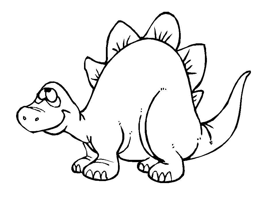 Coloriage de dinosaure à imprimer