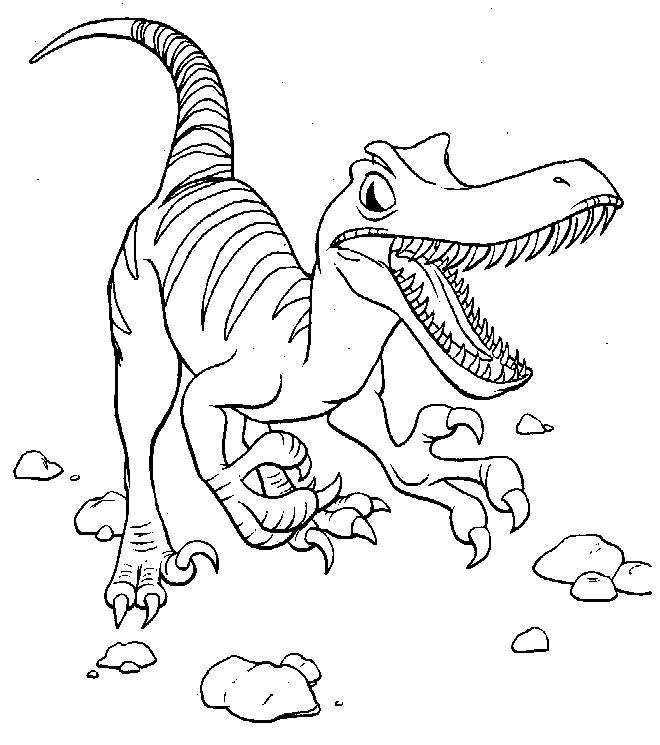 Dessin de dinosaure imprimer et colorier