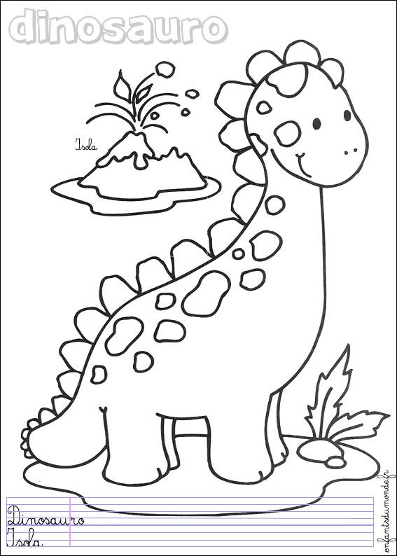 Coloriage de dinosaure gratuit à imprimer