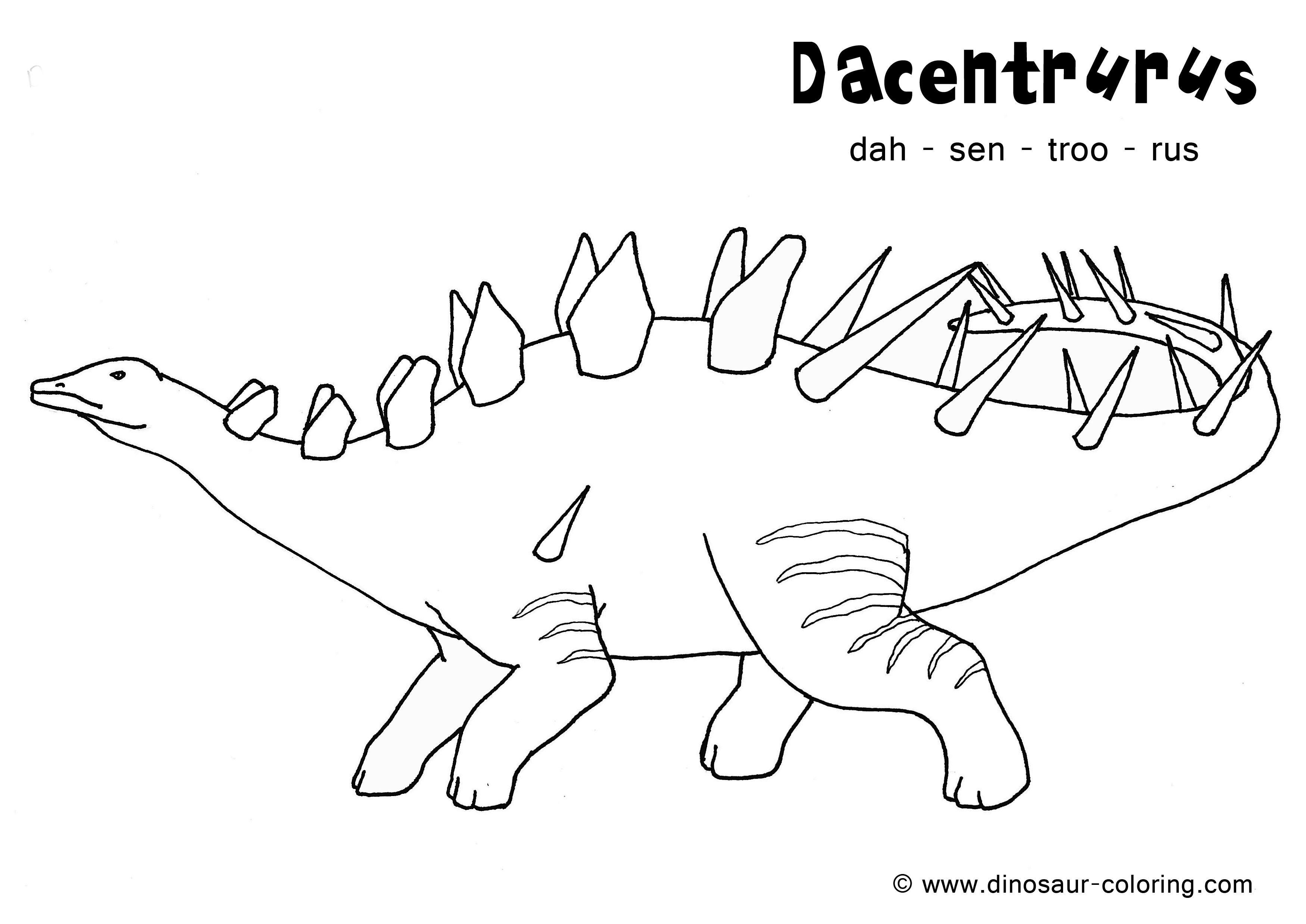 Image de dinosaure a imprimer et colorier