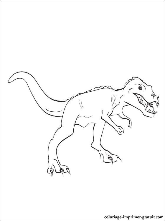 Dessin gratuit dinosaure a colorier
