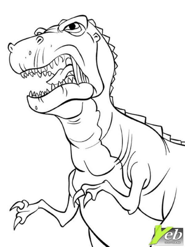 Jeux Coloriage Dinosaure.204 Dessins De Coloriage Dinosaure A Imprimer Sur Laguerche Com Page 4
