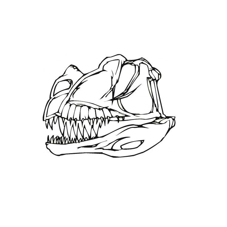 Dessin de dinosaure a colorier