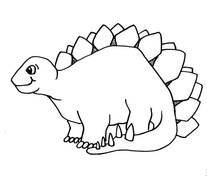 Dessin de dinosaure gratuit a imprimer et colorier