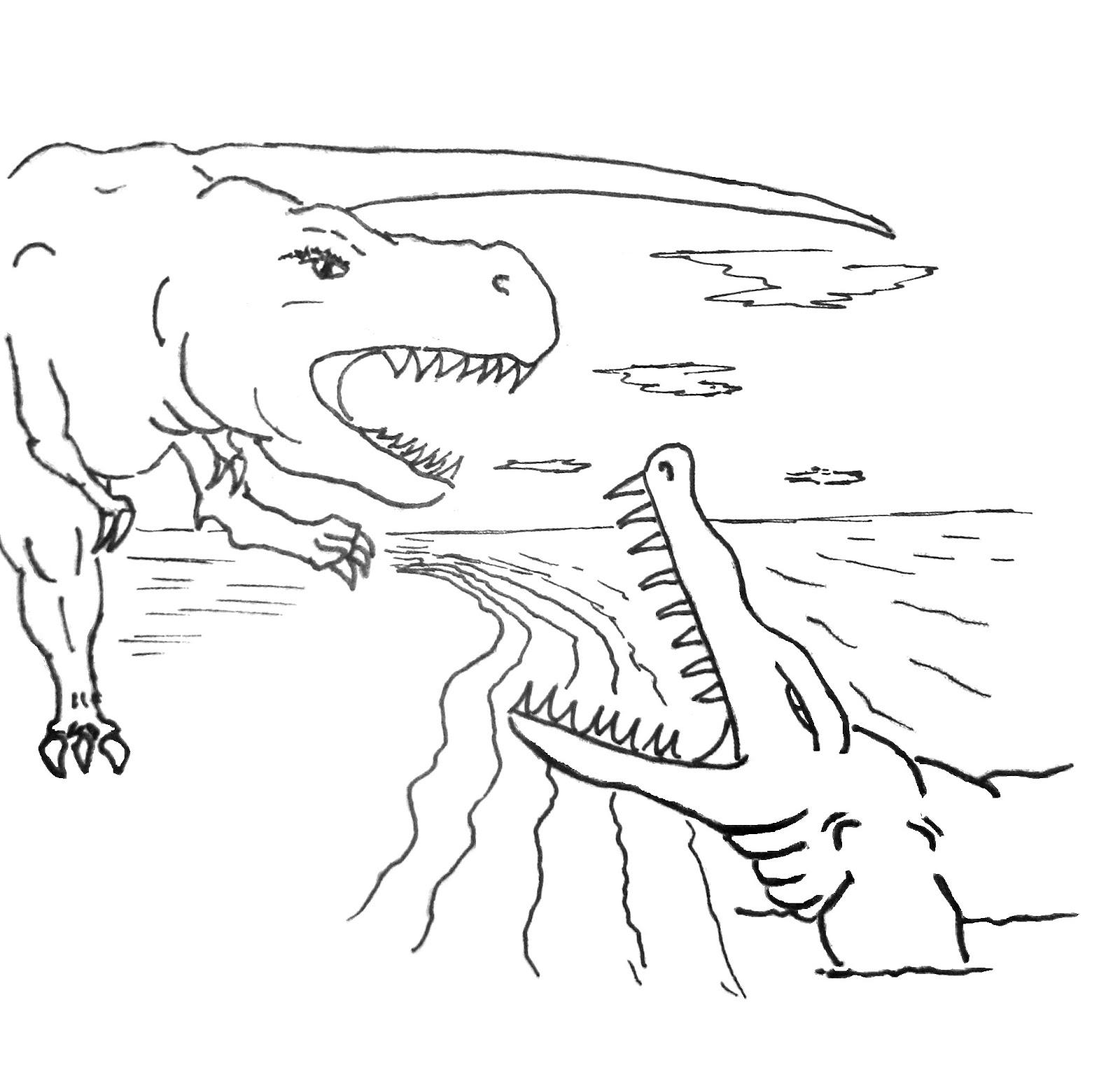 Activité de coloriage dinosaure à colorier