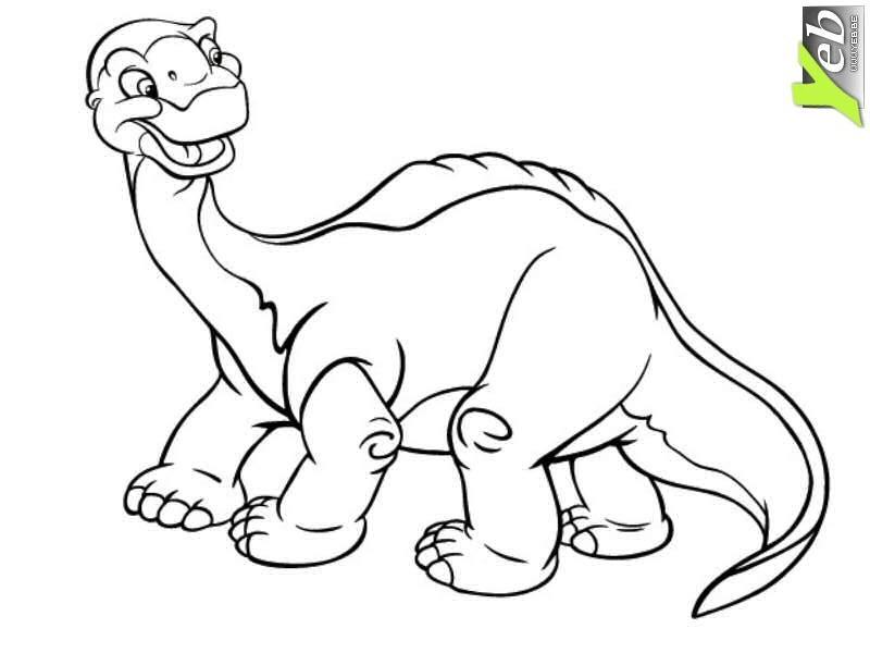 Coloriage dinosaure imprimer et colorier