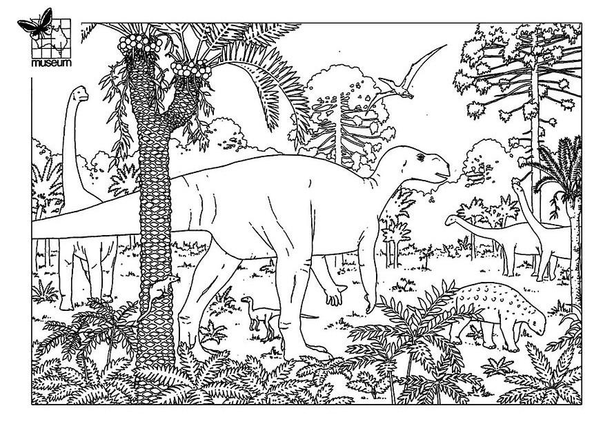 Dessin gratuit dinosaure a imprimer