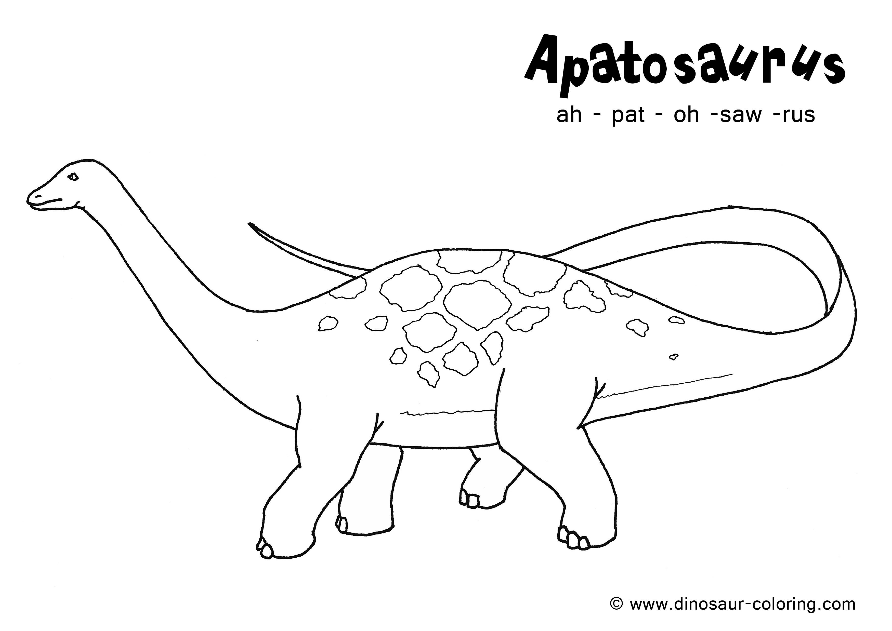 Beau Dessin Coloriage Dinosaure