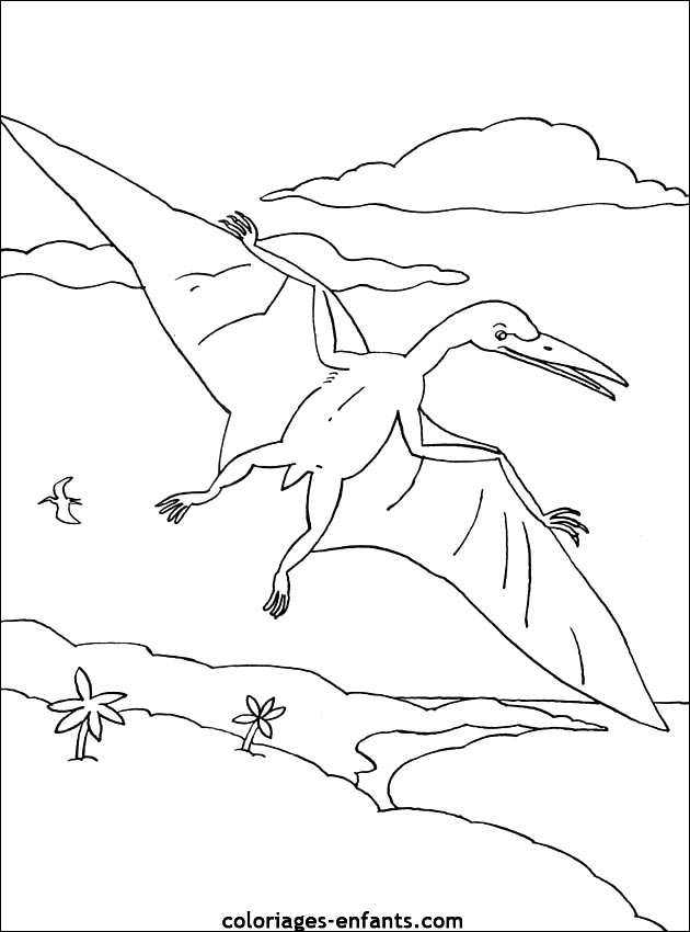 Dessin de dinosaure a imprimer