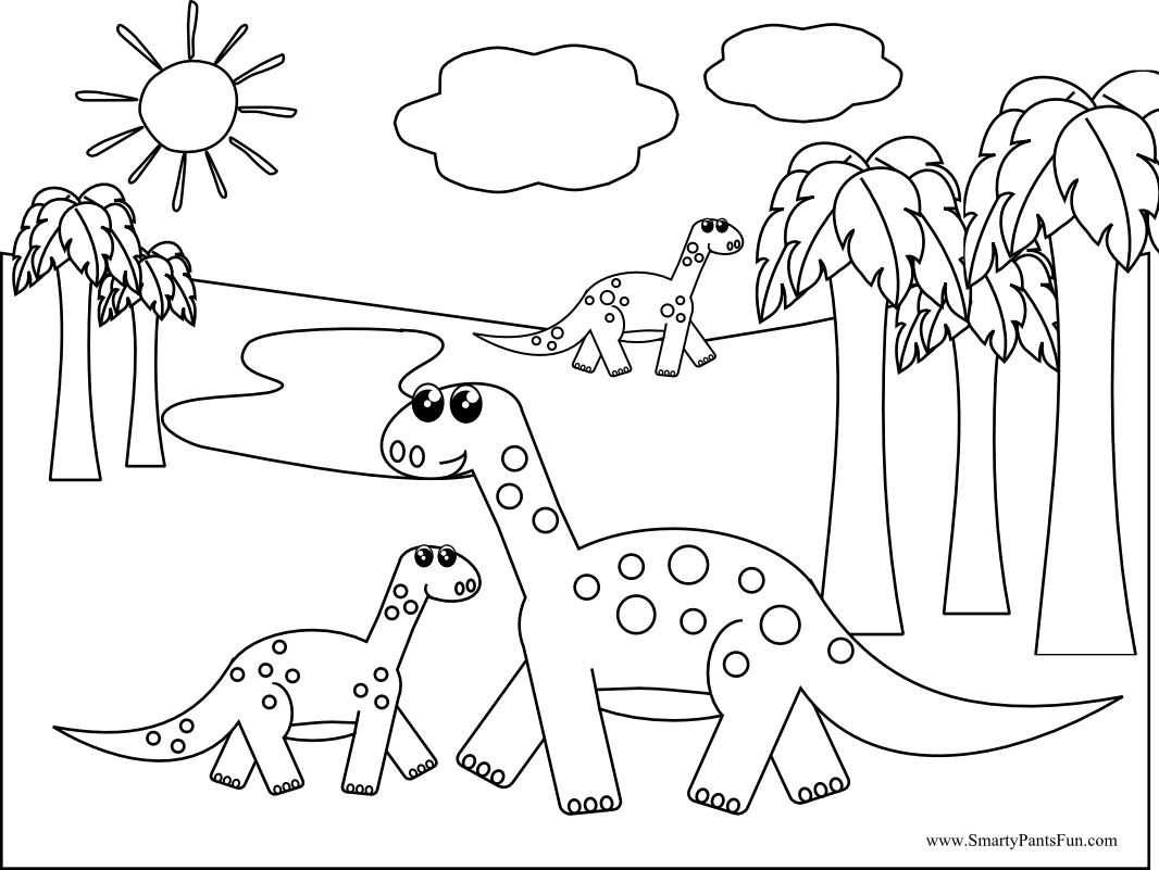 Dessin de dinosaure pour imprimer et colorier