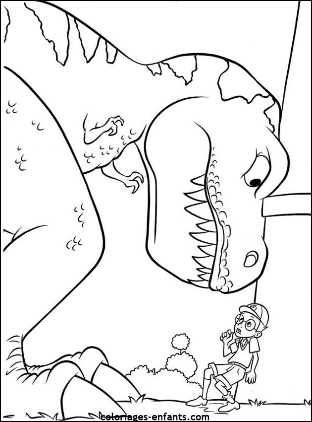 Jeux de coloriage dinosaure à colorier et imprimer
