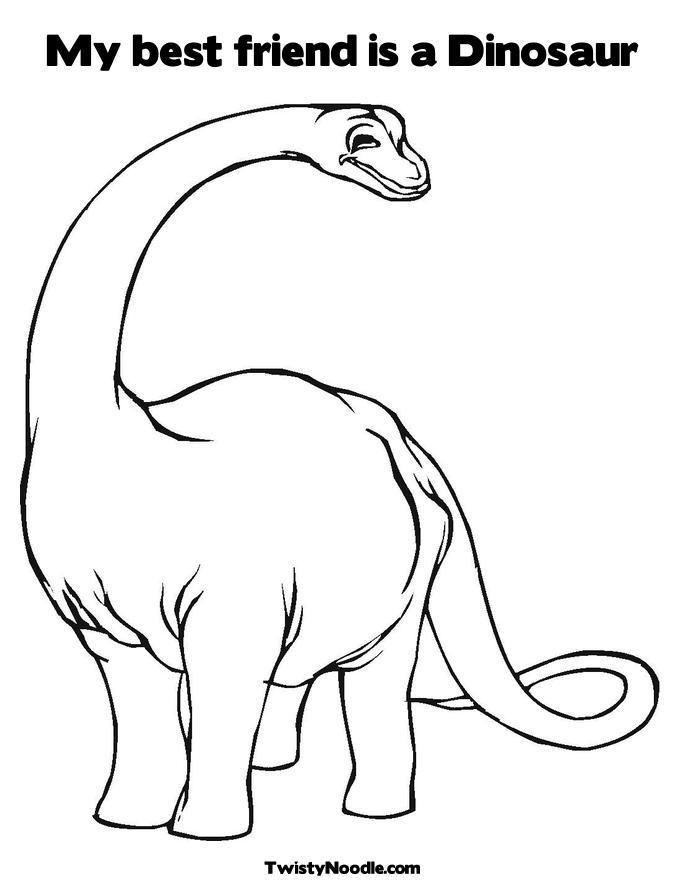 Dessin de dinosaure gratuit