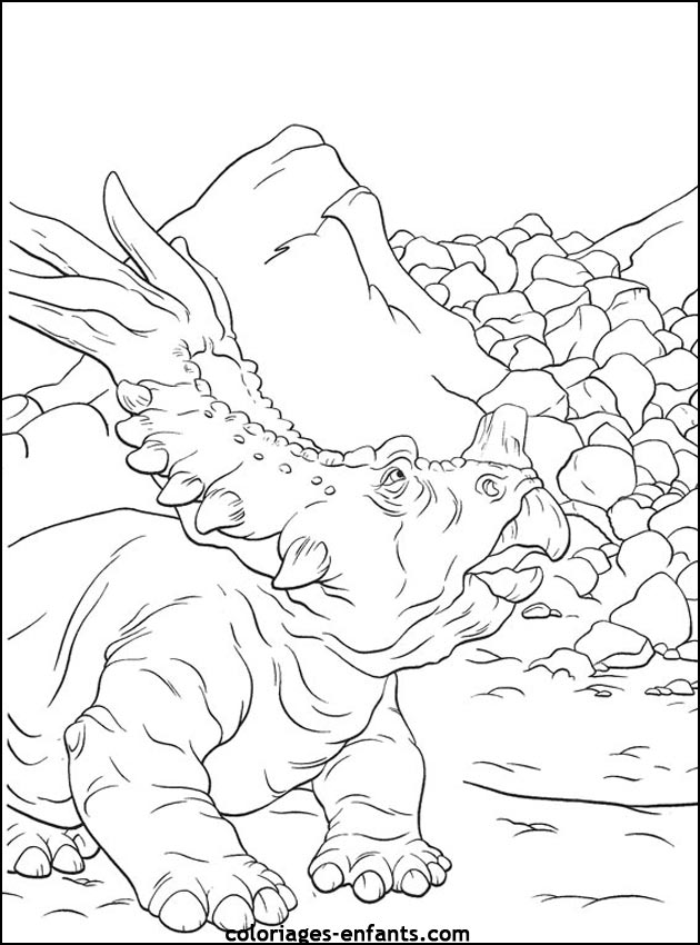Activité de coloriage dinosaure à imprimer