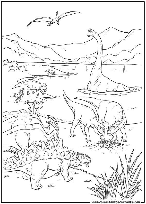Dessin de dinosaure a colorier et imprimer