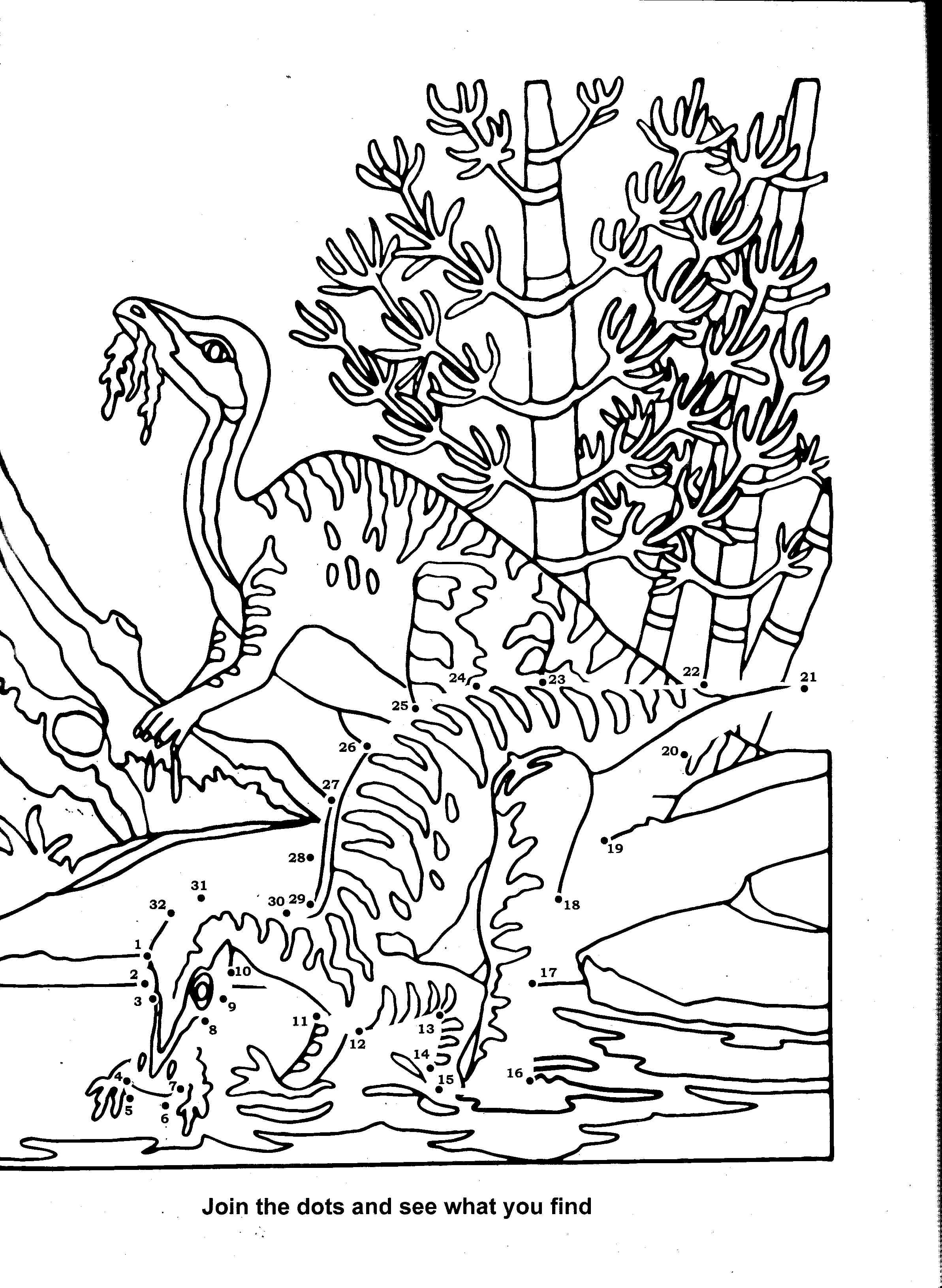 Coloriage de dinosaure gratuit
