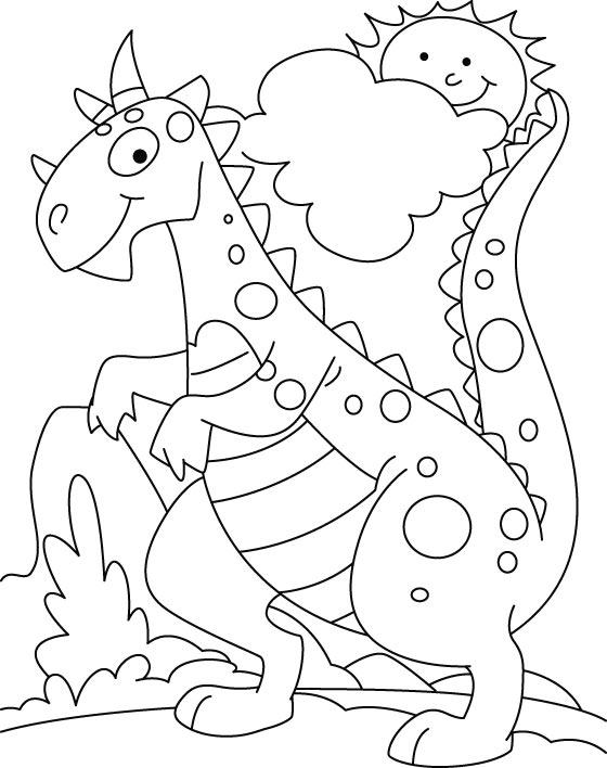 Coloriage de dinosaure a colorier