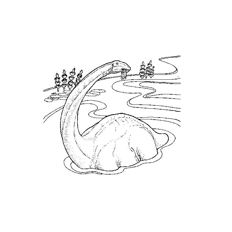 Dessin gratuit dinosaure à imprimer