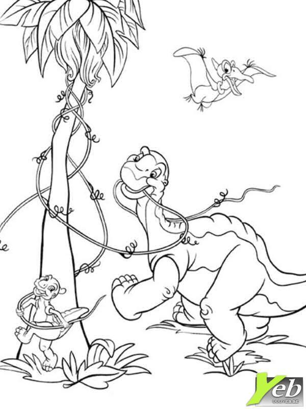 Activité de coloriage dinosaure gratuit a imprimer et colorier