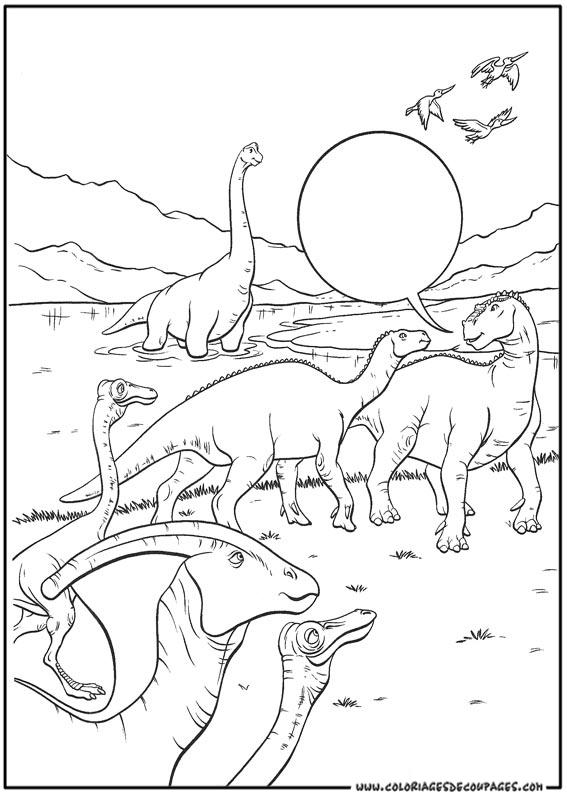 Dessin gratuit de dinosaure a imprimer