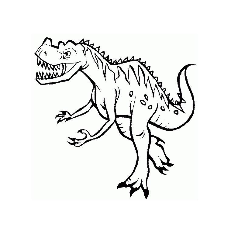 204 dessins de coloriage dinosaure imprimer sur - Dessin de tyrannosaure ...