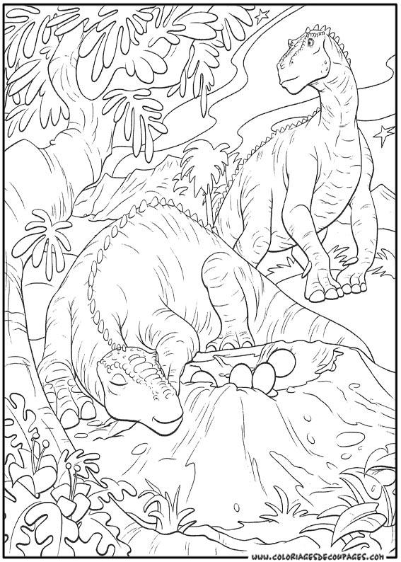 Dessin de dinosaure gratuit à imprimer et colorier