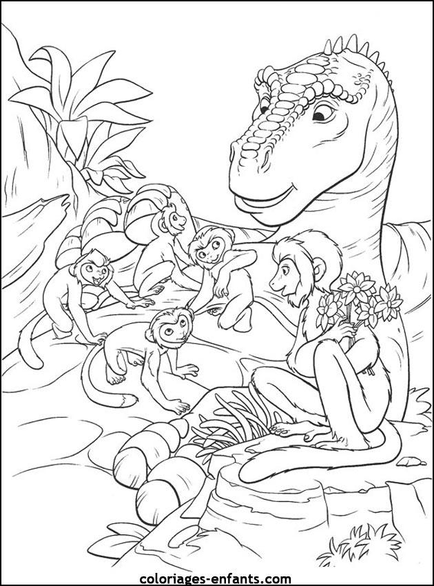 Coloriage de dinosaure gratuit a imprimer et colorier