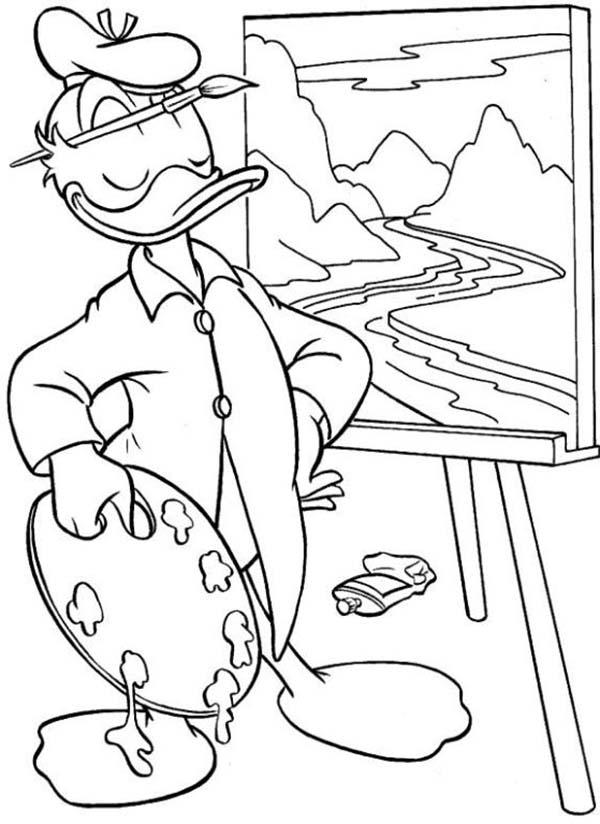 Coloriage donald duck gratuit - dessin a imprimer #145