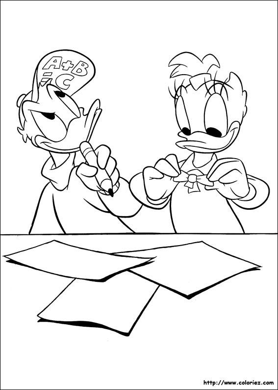 Coloriage donald duck gratuit - dessin a imprimer #195