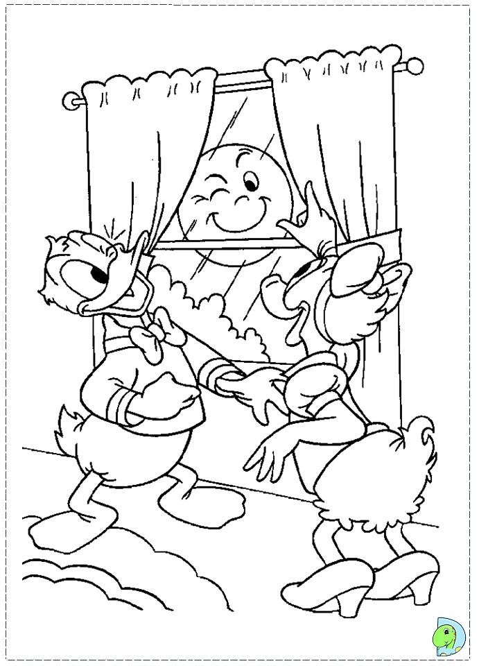 Coloriage donald duck gratuit - dessin a imprimer #232