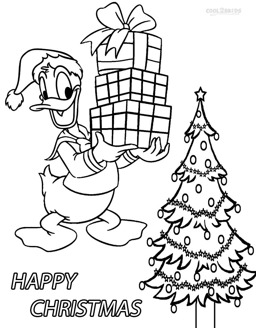 Online coloring pictures christmas - Donald Coloring Pages On Coloringbookinfo