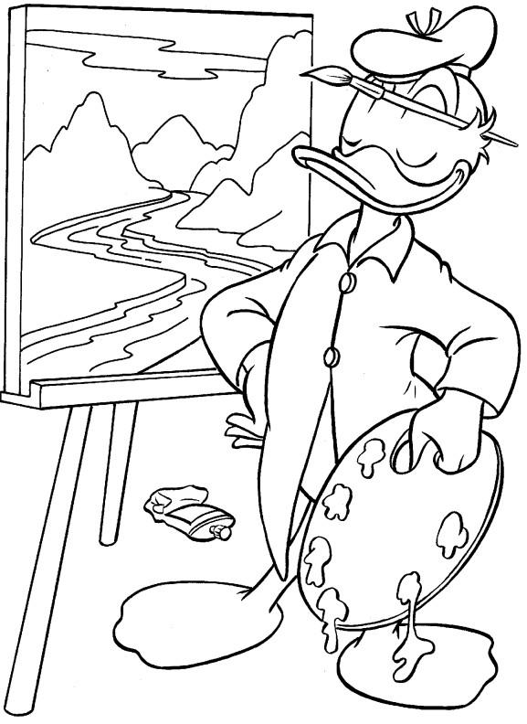 Coloriage donald duck gratuit - dessin a imprimer #290