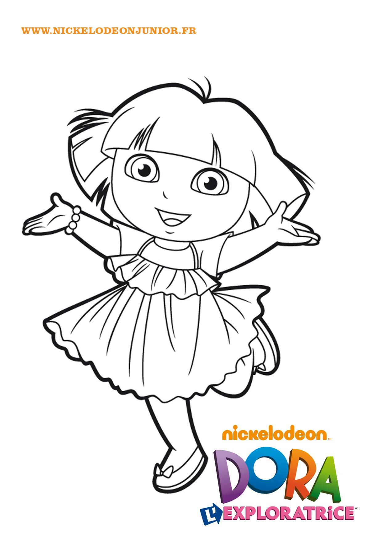 130 dessins de coloriage dora imprimer sur page 1 - Dessin anime dora exploratrice gratuit ...