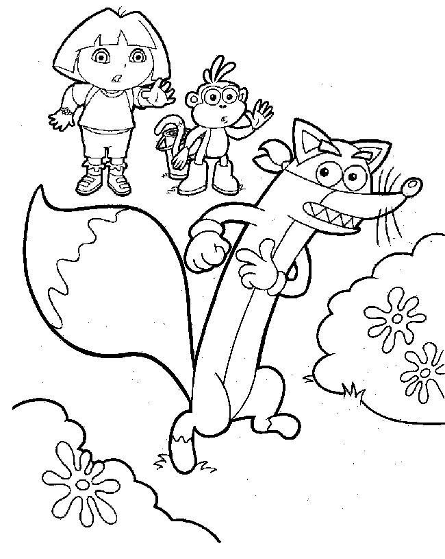 Coloriage dora gratuit - dessin a imprimer #11