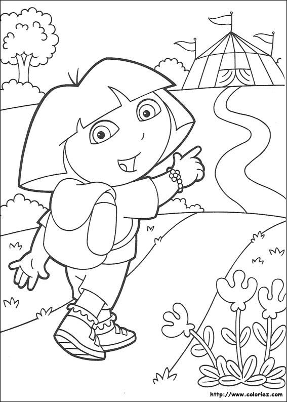 Coloriage dora gratuit - dessin a imprimer #126
