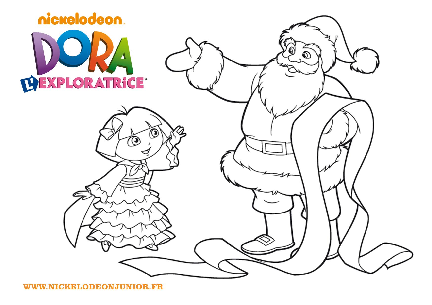 Beau Dessin à Colorier Dora Noel
