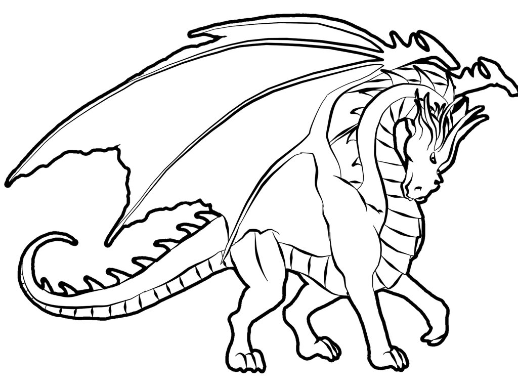 Coloriage de dragon