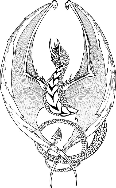 Coloriage de dragon gratuit a imprimer et colorier