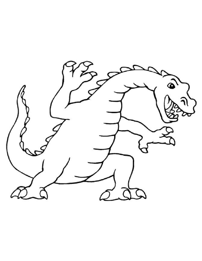 Activité de coloriage dragon